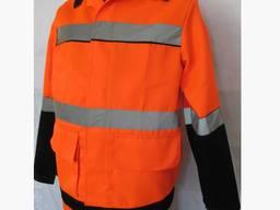 Костюм сигнальный полукомбинезон курточка с СВП