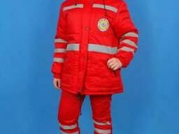 Костюм утепленный для скорой помощи, куртка,брюки, мужской,ж