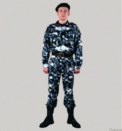Костюм военно-полевой, куртка, брюки, камуфлированный, мужской