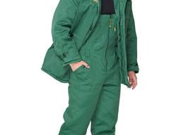 Костюм зимний Аляска зеленый со светоотражайкой на куртке