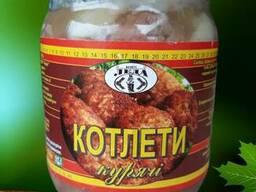 Продам котлеты консервированые куриные 0, 5л