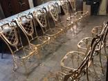 Кованая мебель кровати стулья лавки качели декор ПДК Бастион - фото 7