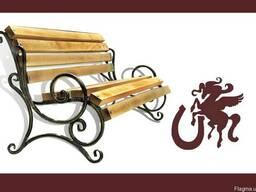 Кованая скамейка (2 боковушки)
