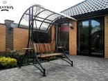 Кованая мебель кровати стулья лавки качели декор ПДК Бастион - фото 4