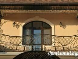 Кованые балконы, ограждение балконное