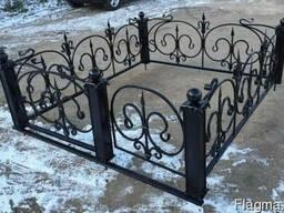 Кованые оградки!Металлические оградки,столы и лавочки!