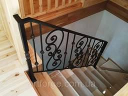 Кованые перила для лестницы, террасы, балкона.