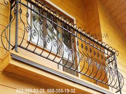 Кованые перила на балкон QR1