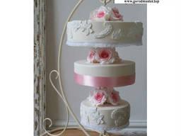 Кованые подставки для тортов, декоративные стойки