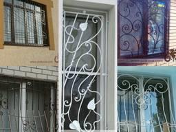 Кованые решетки на окна, оконные решетки - фото 1