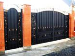 Навес для машины с металлопрофиля. Ворота кованые, сварные, решетчатые - фото 7