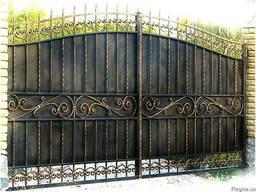 Кованые заборы, ворота, решетки, лестницы, козырьки,навесы.