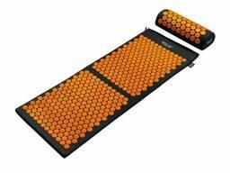 Коврик акупунктурный с валиком 4FIZJO Аппликатор Кузнецова 128 x 48 см Black/Orange. ..