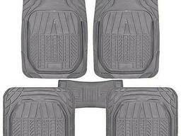 Коврики PVC КУ-16049 BK 5шт. /компл. черные 75x52 52x47. ..