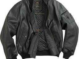 Кожаная мужская летная куртка MA-1 Leather Alpha Industries