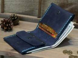 Кожаный кошелёк Гравировка в подарок. Портмоне, бумажник