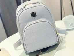 Женский мини рюкзак Серый