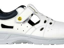 Кожаные белые сандалии для пищевой промышленности