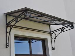 Козырек со стеклом для окна (оконный) односкатный