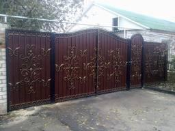 Козырьки, ворота кованые, заборы, решетки на окна, беседки