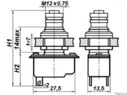 КП-1В Переключатель концевой кнопочный 6 А, 1.5-6.5 кгс.
