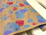 "Крафт бумага ""LOVE YOU"", 70 см. 10 метров. 70 грам/м2. - photo 1"
