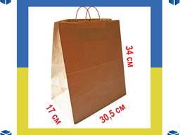 Крафтовый пакет с широким дном 305х170х340мм