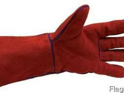 Краги спилковые , перчатки спилковые, рабочие перчатки