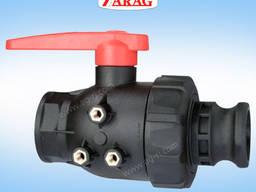 Кран двухходовой Arag серии 455 (соединение Камлок)