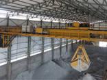Кран мостовой двухбалочный грейферный г/п 30/12,5 т. - фото 1
