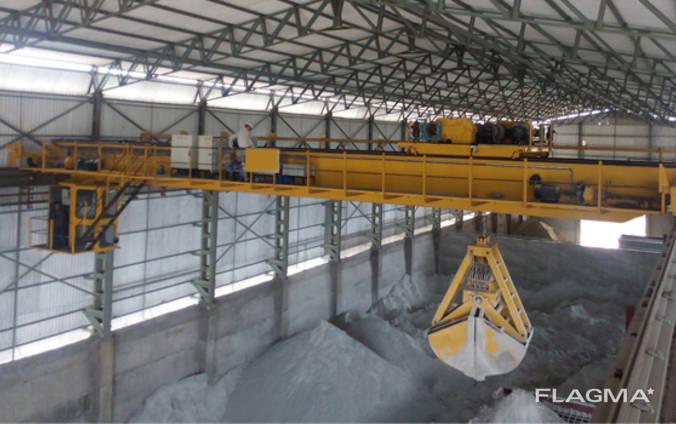 Кран мостовой двухбалочный грейферный г/п 30/12,5 т.