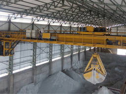 Кран мостовой двухбалочный грейферный г/п 40/12, 5 т.
