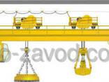 Кран мостовой магнитно-грейферный г/п 8 10 т. - фото 1