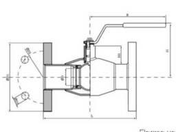 Кран шаровой фланцевый стальной д 15. - фото 2