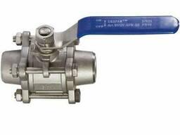 Кран шаровой AISI304 3-х составной сварка Ду 80
