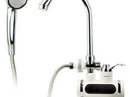 Кран-водонагреватель проточный JZ 3. 0кВт 0, 4-5бар для ванны гусак ухо настенный. ..