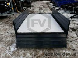 Крашеный металлический двухосный 1500х2500х400 - Fedorov - прицепы и фаркопы