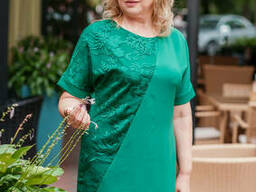 Красивое платье большого размера ботал артикул 6734