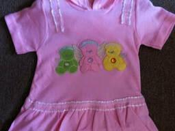 Красивое платье с капюшоном для девочки Турция, доставка. ..