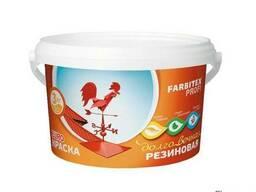 Краска акриловая резиновая Farbitex Профи белый 3 кг