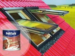 Краска для шифера Polifarb Этернит для крыш