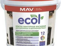 Краска ECOL 12 фактурная для наружных и внутренних работ