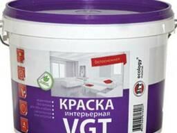 Краска VGT интерьерная белоснежная 10л (15кг)