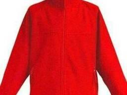 Красная флисовая кофта для девочки