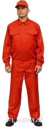 Красная рабочая курточка