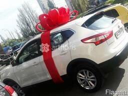 Красный подарочный бант для оформления машины. У нас можно з