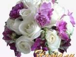Красочные, сочные свадебные букеты - фото 1