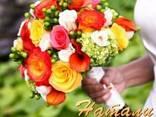 Красочные, сочные свадебные букеты - фото 2