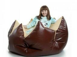 Кресло диван мешок цветок из кож-зама