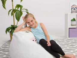 Кресло груша единорог из меха